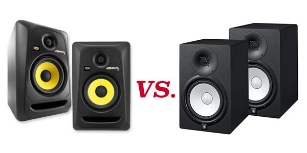 yamaha hs vs krk rokit studio monitors diy music